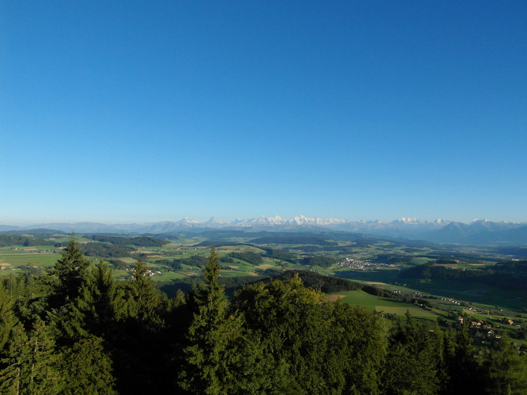 view from bantiger tower