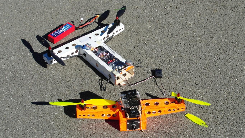 quadcopter #7, evolution 1, after 2nd crash