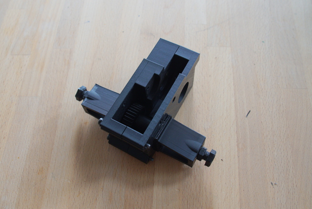 step 7, assembled gearbox
