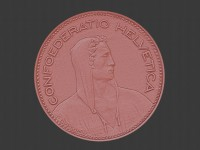 3d scan of 5 francs