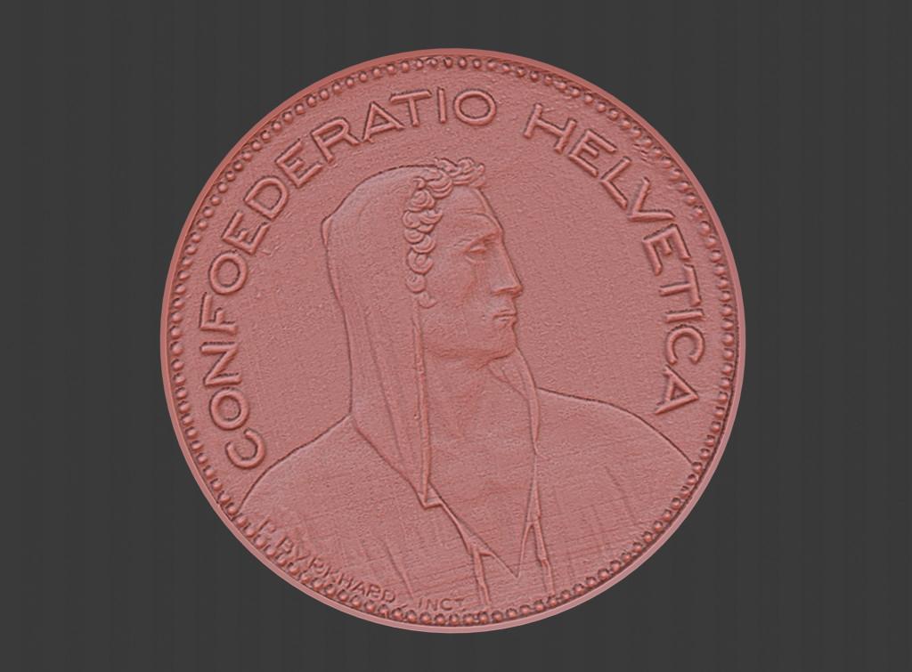 3d scan of 5 francs