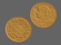 20 swiss francs, goldvreneli