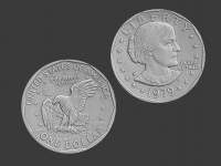 susan b anthony dollar, 3d scanned
