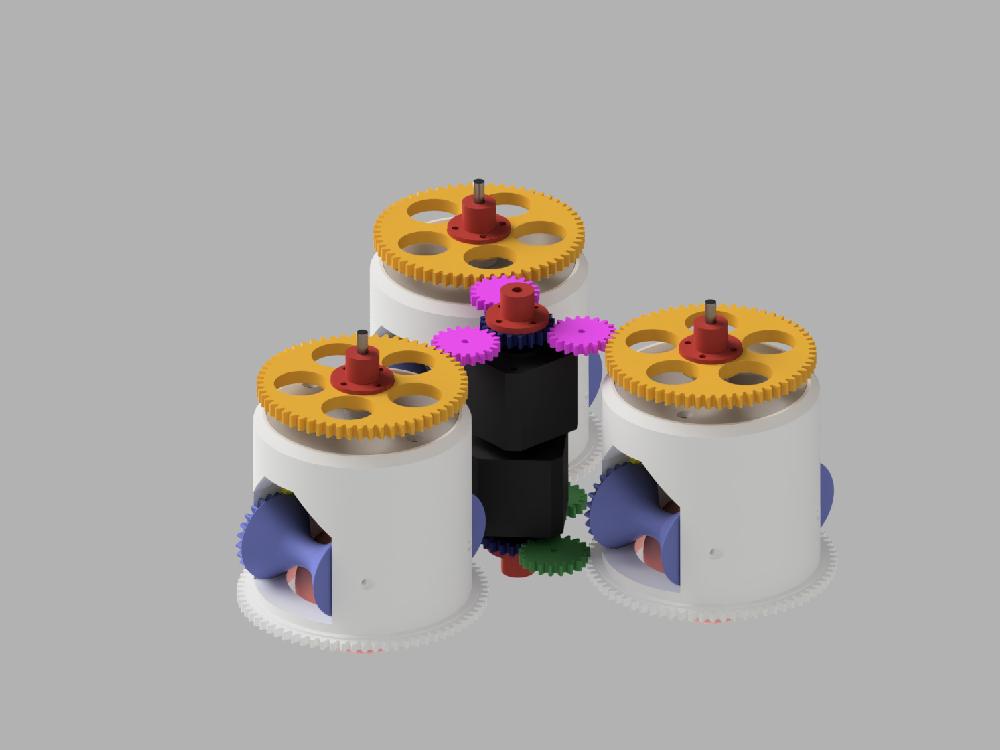 synchro drive, gears an motors