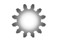 dithered toothed gear plotted