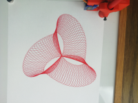 cycloid drawing with three lobes