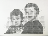 dithered image plotted